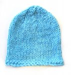 "KSS Aqua/White Cotton Winter Beanie 13"" (3-6 Months) KSS-HA-655"