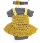 KSS Crocheted Gold/Yellow Baby Dress and Panty 3 Months KSS-DR-105-EBK