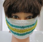 KSS Striped Around Head Knitted Lined Cotton Face Mask 5 & up KSS-HM-007