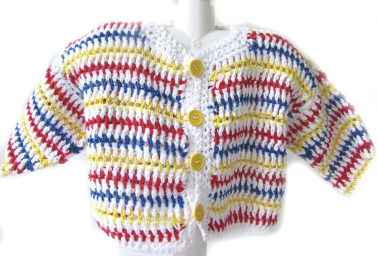 KSS White/Red/Navy Knitted Sweater/Jacket (18 Months)