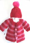 KSS Red Heavy Sweater/Cardigan & Hat (18 Months) KSS-SW-841-ET