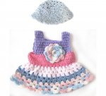 "KSS Crocheted Pastel Dress for 18"" Doll KSS-DR-078-HA-207-EBK"