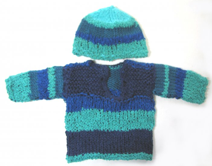 KSS Multicolred Pullover with a Hat (3 Months)