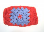 KSS Red and Blue Around Head Knitted Lined Face Mask 4-8 Years