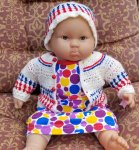 KSS Red, White & Blue Baby Sweater/Jacket and Hat (9 Months) KSS-SW-555-DUNS-ET