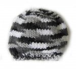 "KSS Black, White & Grey Beanie 12"" (Newborn) HA-673 KSS-HA-673"