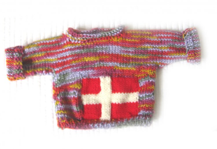 KSS Pullover Baby Sweater with Danish Flag (12 Months) SW-950