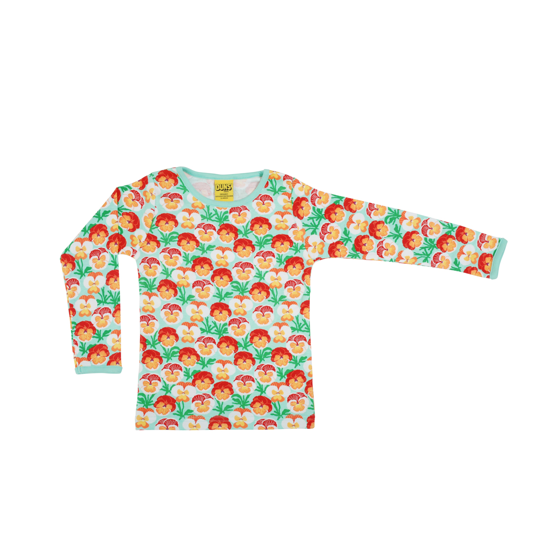 "DUNS Organic Cotton ""Pansy Beach Glass\"" Long Sleeve Top (12-18 Months)"