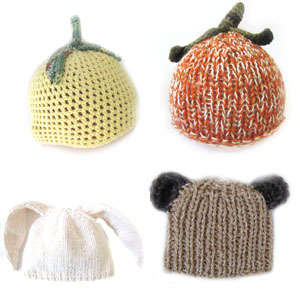 KSS Hats with Animal and Fruit Motifs
