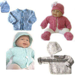KSS Baby Cardigan/Sweater and Hats 0 - 24 Months