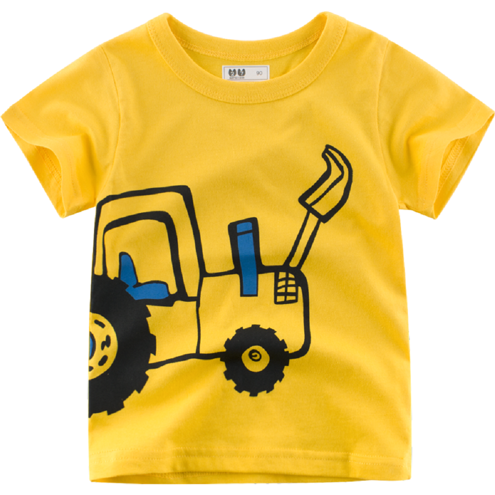 Kids Organic Cotton Yellow with a Truck T-Shirt 2 Years AB-TRUCK090