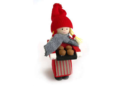 Tomte Girl with Cookie sheet