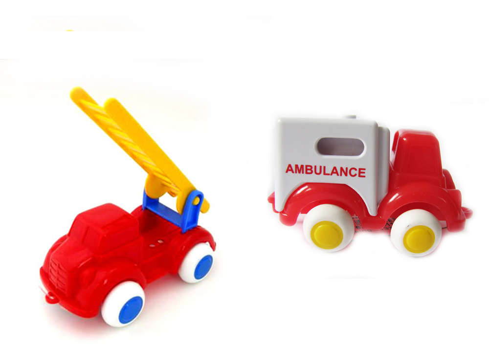"Viking Toys 5"" Chubbies Fire Truck and 4"" Ambulance"