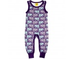 "DUNS Organic Cotton ""Elephants"" Sleeveless Dungaree 5-6 Years DUNS-ELEPDUN116"