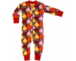 DUNS Organic Cotton Fruits, Boysenberry Long Onesie (56cm/1-2 Months) DUNS-FRMBZIP56