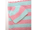 "KSS Pastel Baby Blanket and Hat 25""x20"" Newborn and up KSS-BB-095-EBK"