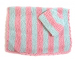 "KSS Pastel Baby Blanket and Hat 25""x20"" Newborn and up"