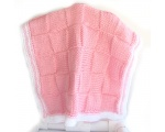 "KSS Pink Squared Baby Blanket 30"" x 18"" Newborn and up KSS-BB-105-ET"