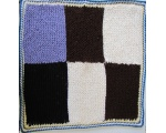 "KSS Squared Baby Blanket 24x24"" Newborn and up"