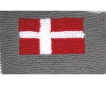 "KSS Danish Flag Baby Blanket 21""x21"" Newborn and up KSS-BB-117-EBK"