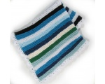 KSS Large Blue/White Squares Baby Blanket Newborn and up KSS-BB-119