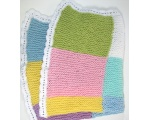 KSS Large Pastel Squares Baby Blanket Newborn and up KSS-BB-120