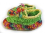 KSS Colorful Crocheted Booties (18-24 Months)