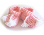 KSS Pink Knitted Tied Booties (6 Months) KSS-BO-101