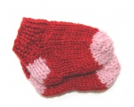 KSS Rd/Pink Acrylic Knitted Booties (0 - 3 Months) KSS-BO-103