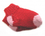 KSS Red/Pink Acrylic Knitted Booties (6-9 Months) KSS-BO-104