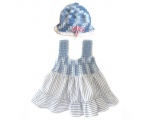 KSS Blue/White Cotton Crocheted Top Dress (18 Months)