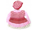 KSS Pink & Red Colored Toddler Crocheted Dress 2T KSS-DR-102-3PC