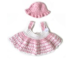 KSS Pink/White Crocheted Dress and Hat 6 Months KSS-DR-136-EB