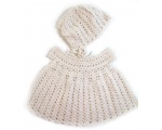 KSS Crocheted Natural Cotton Baby Dress and Hat 6 Months KSS-DR-138