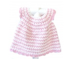 KSS Baby Crocheted Pink/White Cotton Dress and Hat 6 Months KSS-DR-146-EB