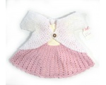 KSS Baby Crocheted Pink Cotton Suspender Dress 3 Months KSS-DR-155-EB
