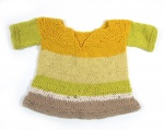 KSS Baby Knitted Nature Colored Cotton Dress and Hat 6 Months KSS-DR-158