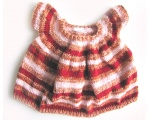 KSS Red/Pink Knitted Short Sleeve Dress Dress 3 Years KSS-DR-160
