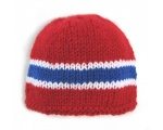 KSS Red Beanie with Norwegian Colors 15-17 inch (6-24 Months) KSS-HA-248-AZ