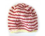 "KSS Pink, Red & Yellowy Striped Colored Cap 12"" (0-6 Months) KSS-HA-424"