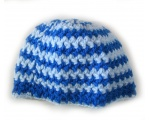 "KSS Blue/Light Blue Striped Colored Cap 13"" (0-3 Months)"