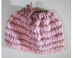 "KSS Mauve/Pink Cotton Ponytail Hat 15"" (1 Years & up)"
