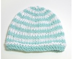 "KSS Aqua/White Cotton Winter Beanie 12-13"" (3 Months) KSS-HA-473"