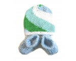 KSS Light Blue Socks and Spiral Hat set (0 - 3 Months)