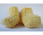 KSS Yellow Knitted Booties and Hat set (3-6 Months)