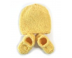 KSS Yellow Knitted Booties and Hat set (6-9 Months) KSS-HA-504-AZ