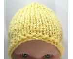 KSS Yellow Knitted Booties and Hat set (6-9 Months)