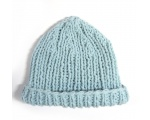 "KSS Ribbed Aqua Knitted Cotton Baby Cap 16"" (9 Months) KSS-HA-531"