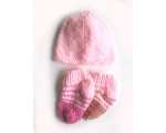 KSS Pink Booties and Hat Set (3 Months) KSS-HA-575