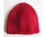 "KSS Dark Red Garter Winter Beanie 12-13"" (3 Months) KSS-HA-576"